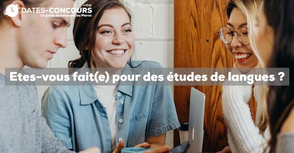 Etes-vous fait(e) pour des études de langues ?   Dates-concours.ma