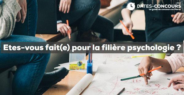 Etes vous fait pour la filière psychologie ? - Dates-concours.ma