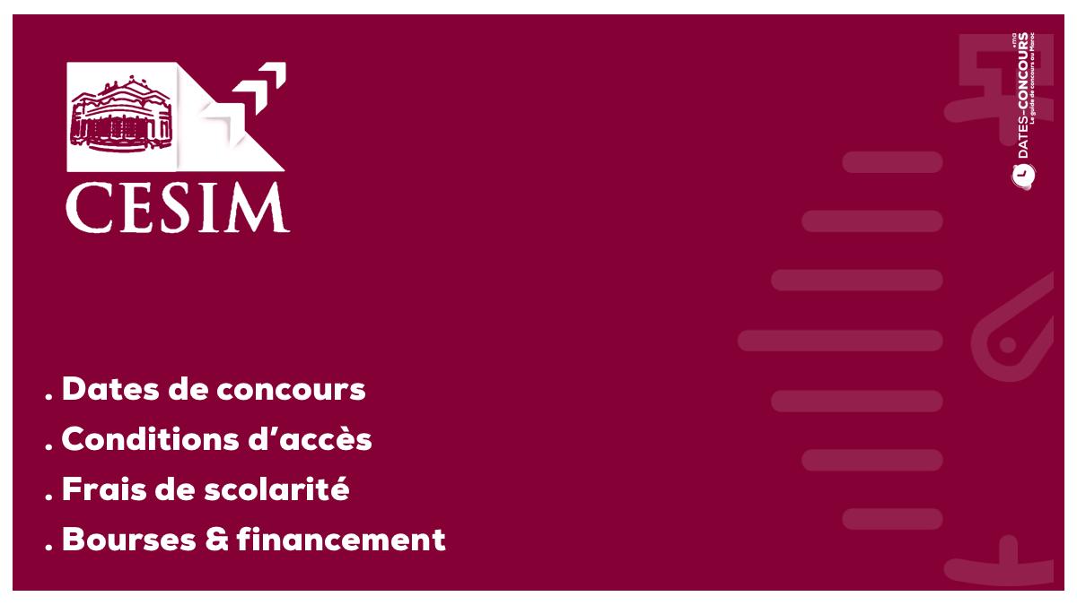 CESIM - Dates-concours.ma