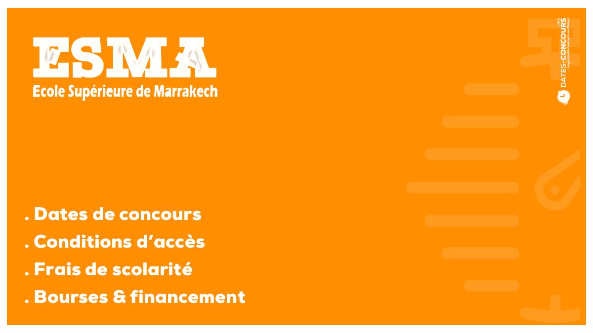 ESMA - Dates-concours.ma