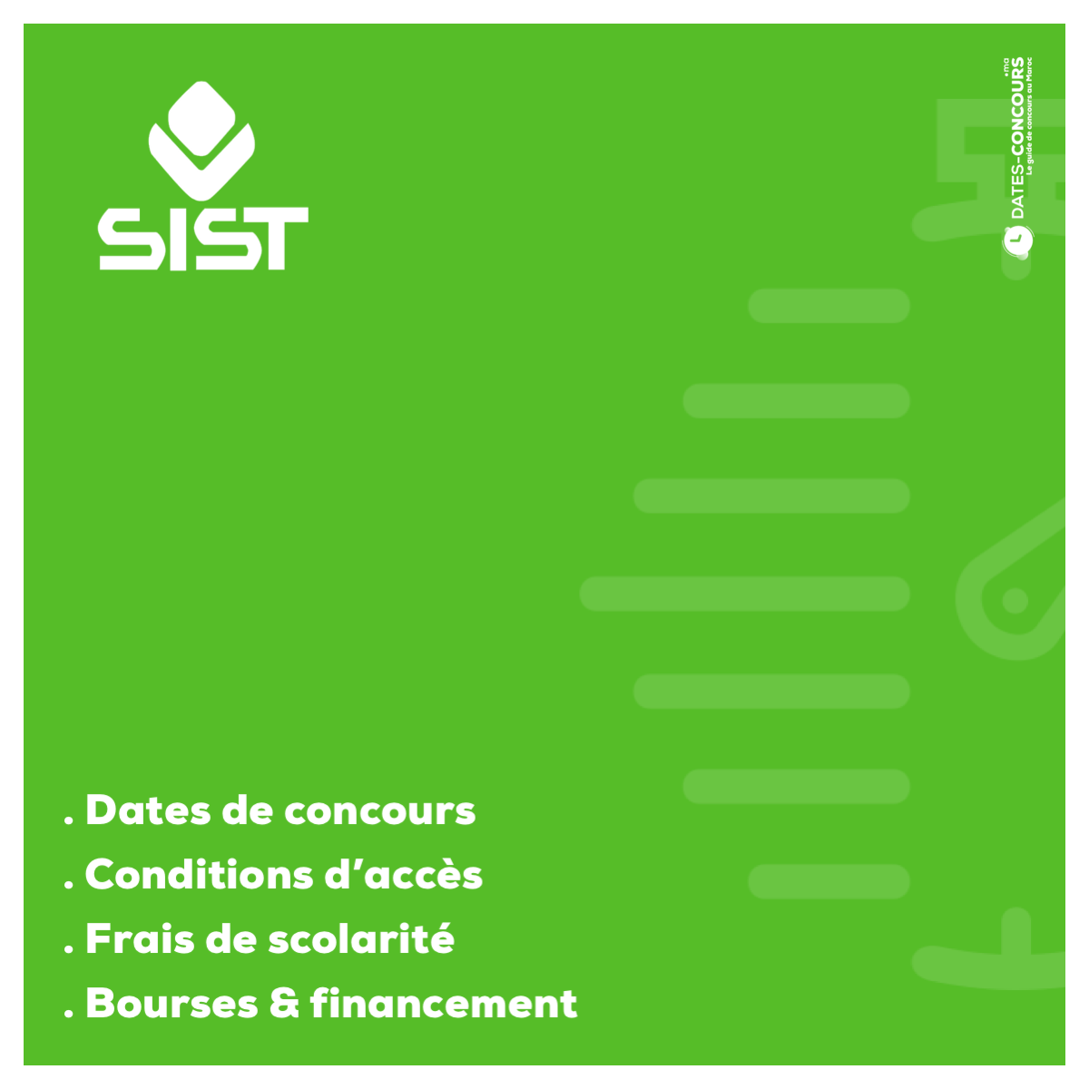 SIST - Dates-concours.ma