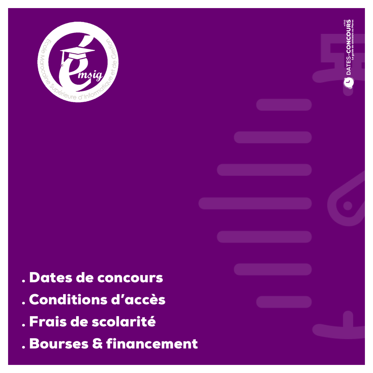 EMSIG - Dates-concours.ma