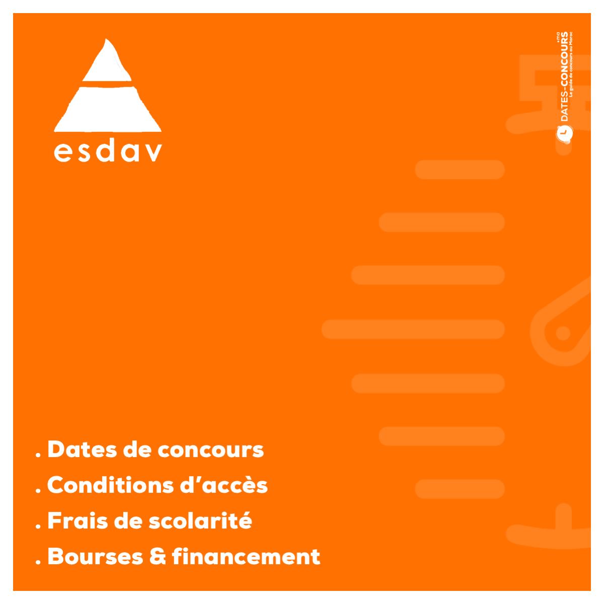 ESDAV - Dates-concours.ma