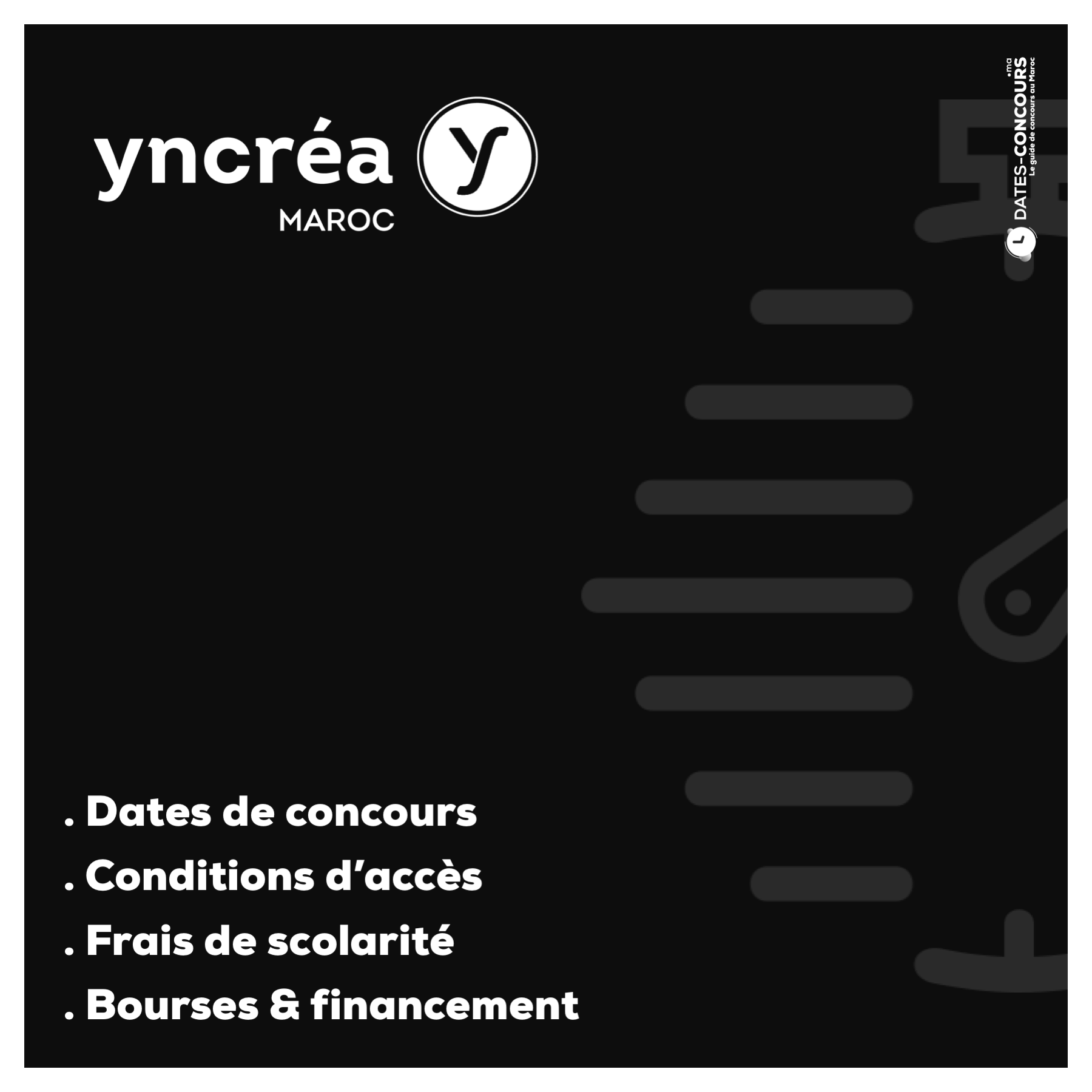 Concours Yncrea - Dates-concours.ma