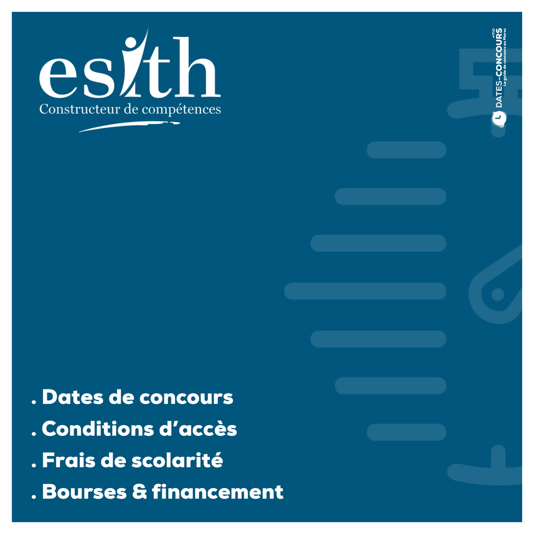 Concours ESITH : Dates de Concours au Maroc I Dates-concours.ma