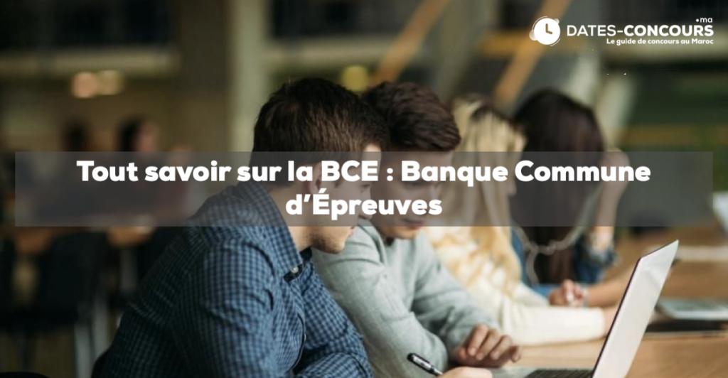 BCE: Banque commune d'épreuve